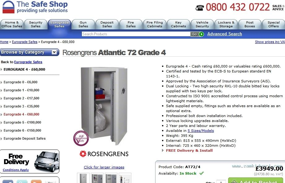 FireShot Screen Capture #130   'Rosengrens Atlantic 72 Grade 4 Safe   High Security Eurograde 4