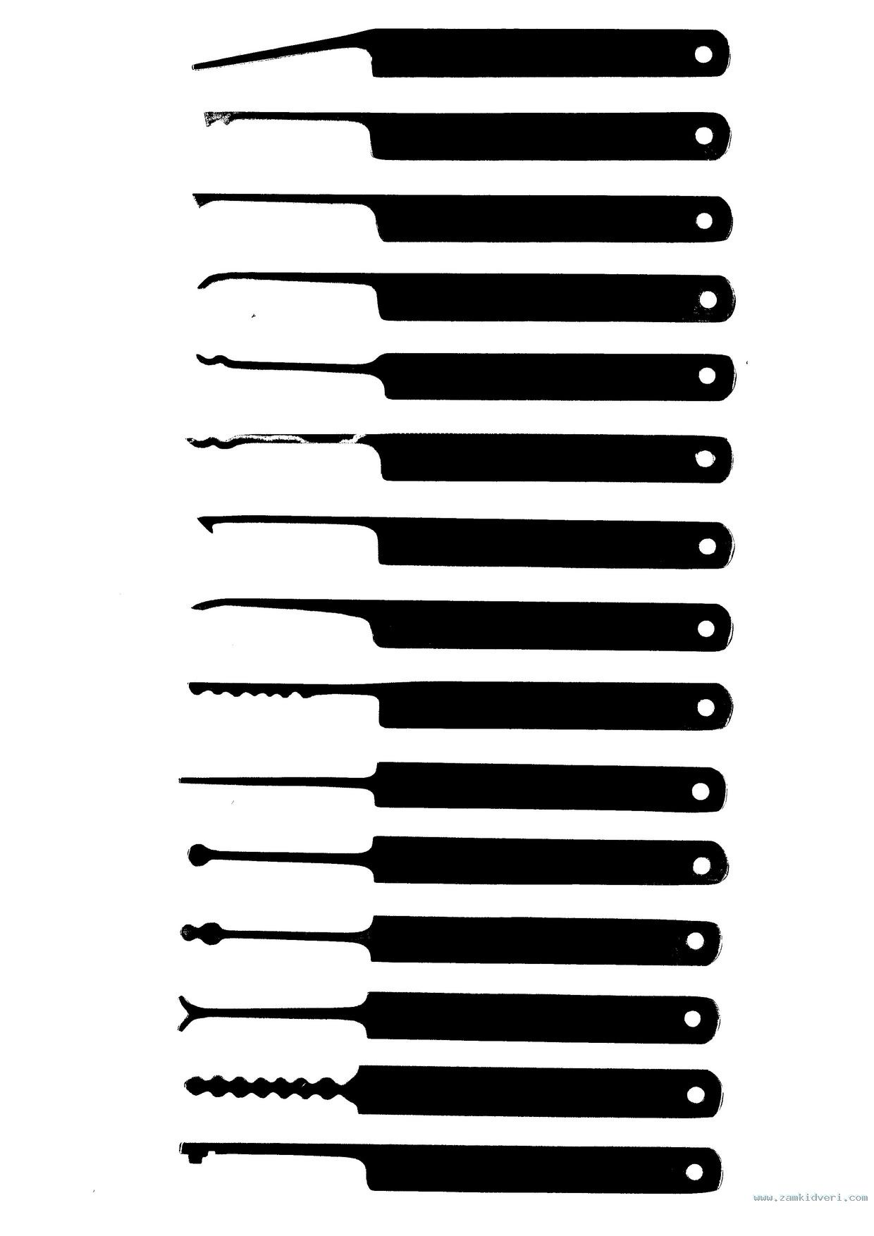 lock pick rake template - 1 2