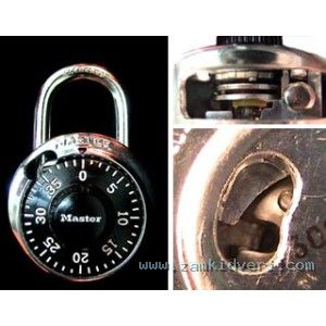 cutaway combination padlock
