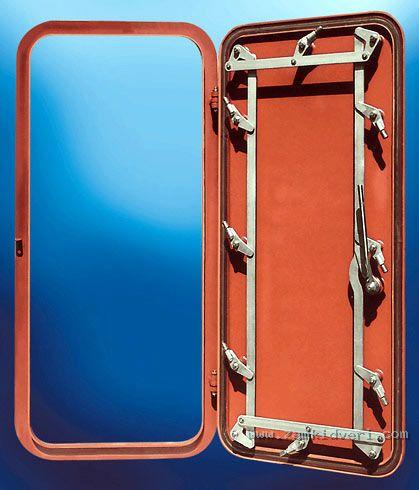 2 hose proof steel door