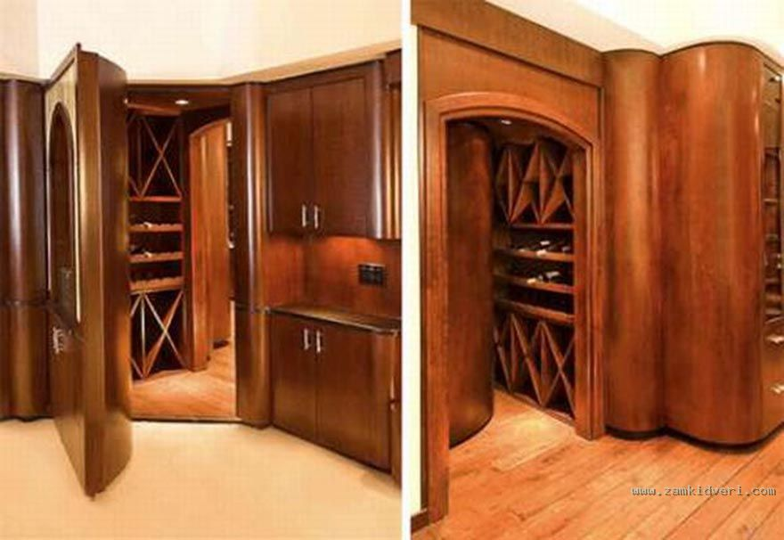 6012 Hidden Doors Multipurpose safe room and wine cellar