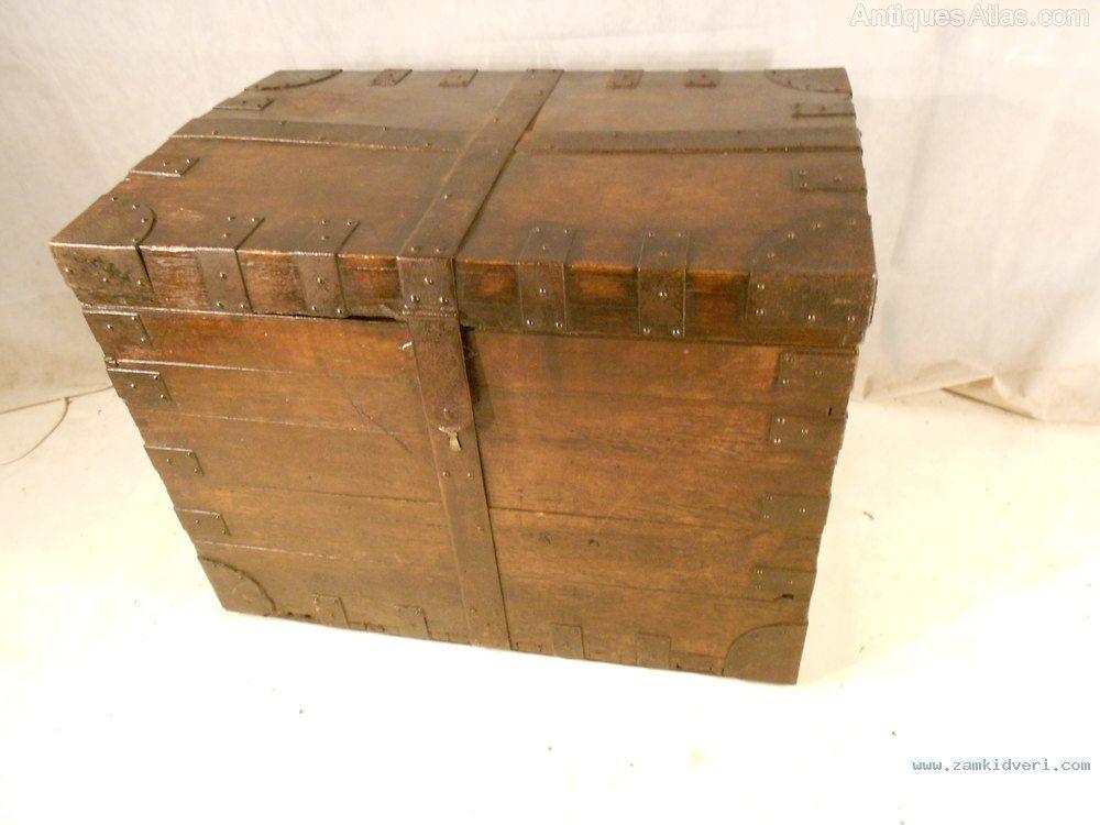 Antique Georgian Oak  Iron Ban as442a143z 1