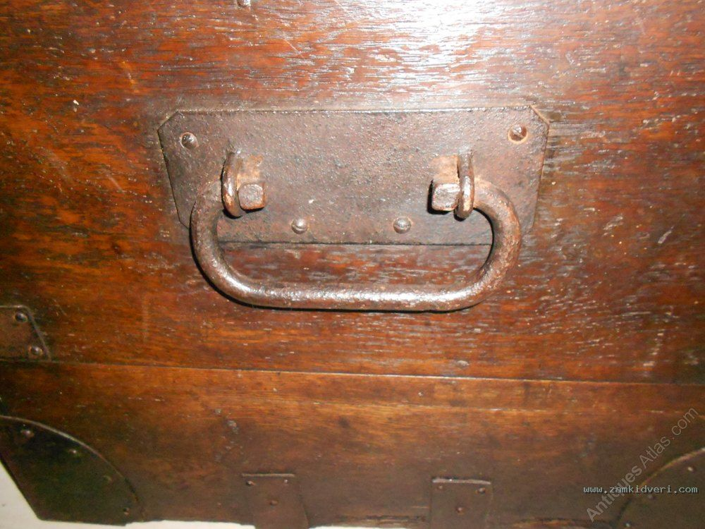 Antique Georgian Oak  Iron Ban as442a143z 2