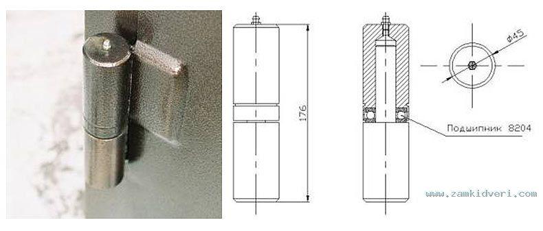 Петли для стальных дверей и гаражных ворот