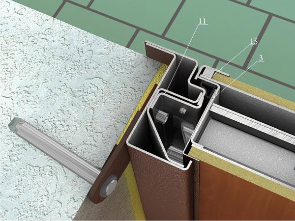 профиль из металла для входной двери
